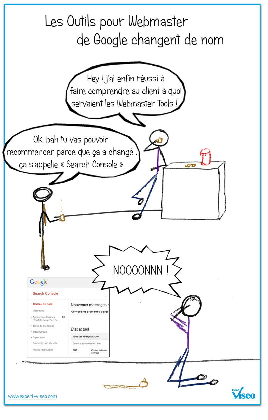 Webmaster Tools remplacé par Search Console