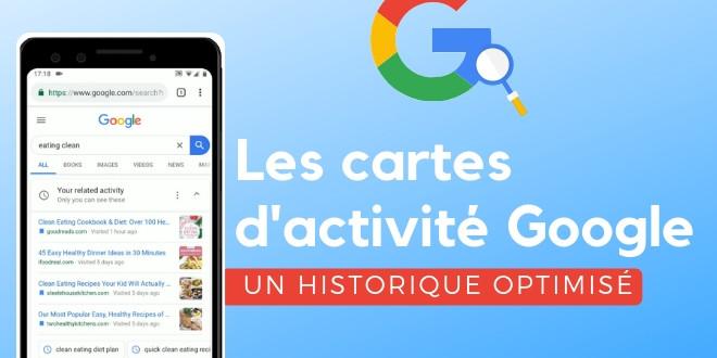 Cartes d'activité Google