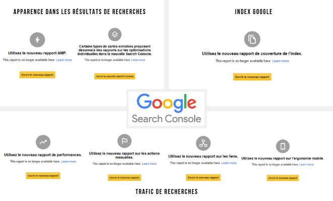 Nouvelle Google Search Console