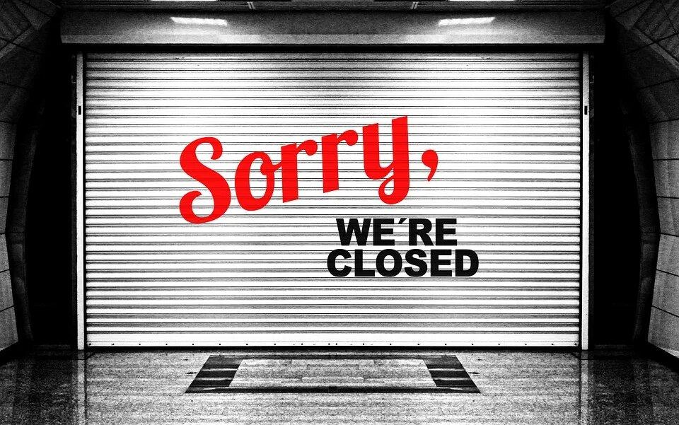 Magasin fermé pendant les vacances