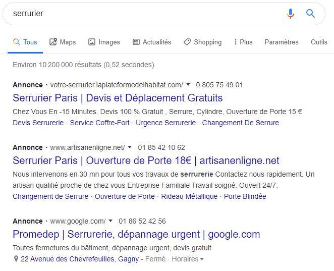 nouvel affichage des annonces google ads dans les serp