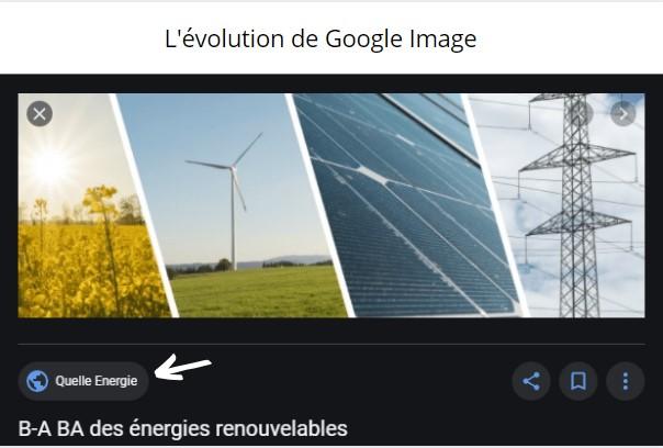 évolution de Google Image